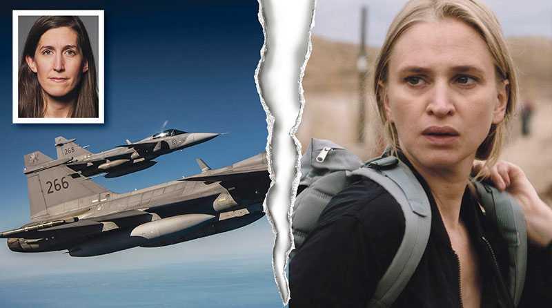 """I likhet med nya tv-serien """"Ingen utan skuld"""" är verklighetens vapenhandel kantad av korruption, sekretess och starka intressen, skriver Agnes Hellström. Vera Vitali, till höger, är en av skådespelarna i serien."""