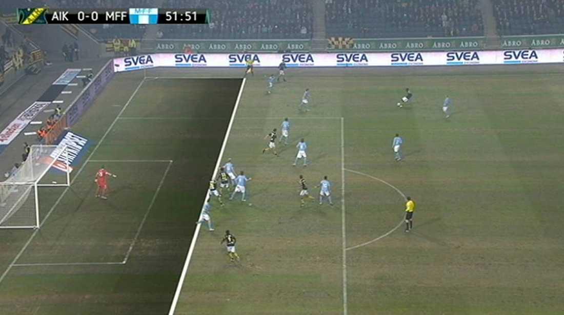 AIK blve rånade på sitt första hemma- mål mot Malmö i onsdags.