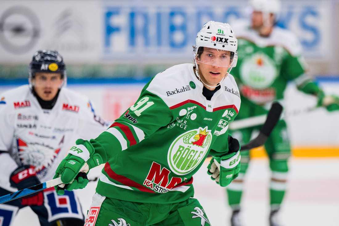 Adam Tambellini under första matchen i Rögle-tröjan.