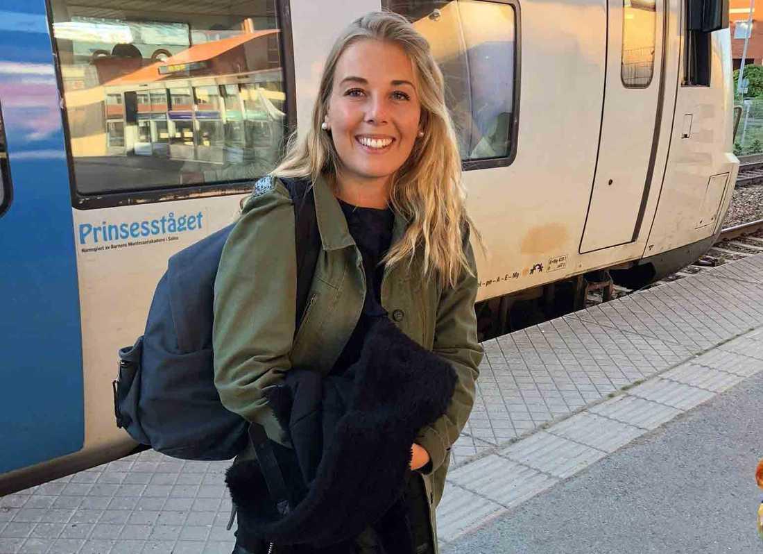 Elodie när hon var i Sverige 2018.