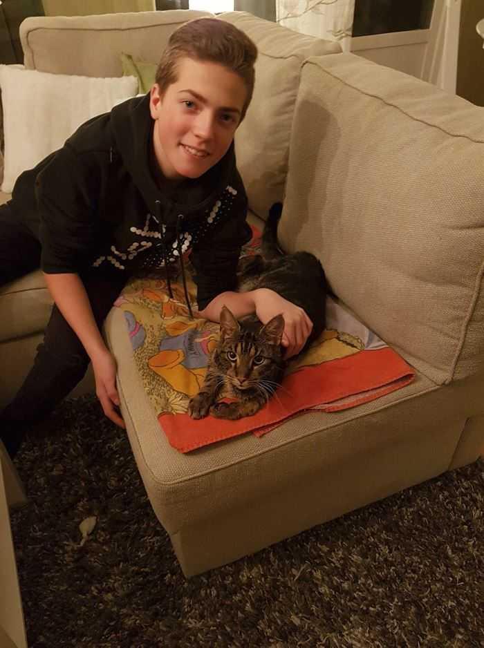 Här är Misse med sonen Sebastian.