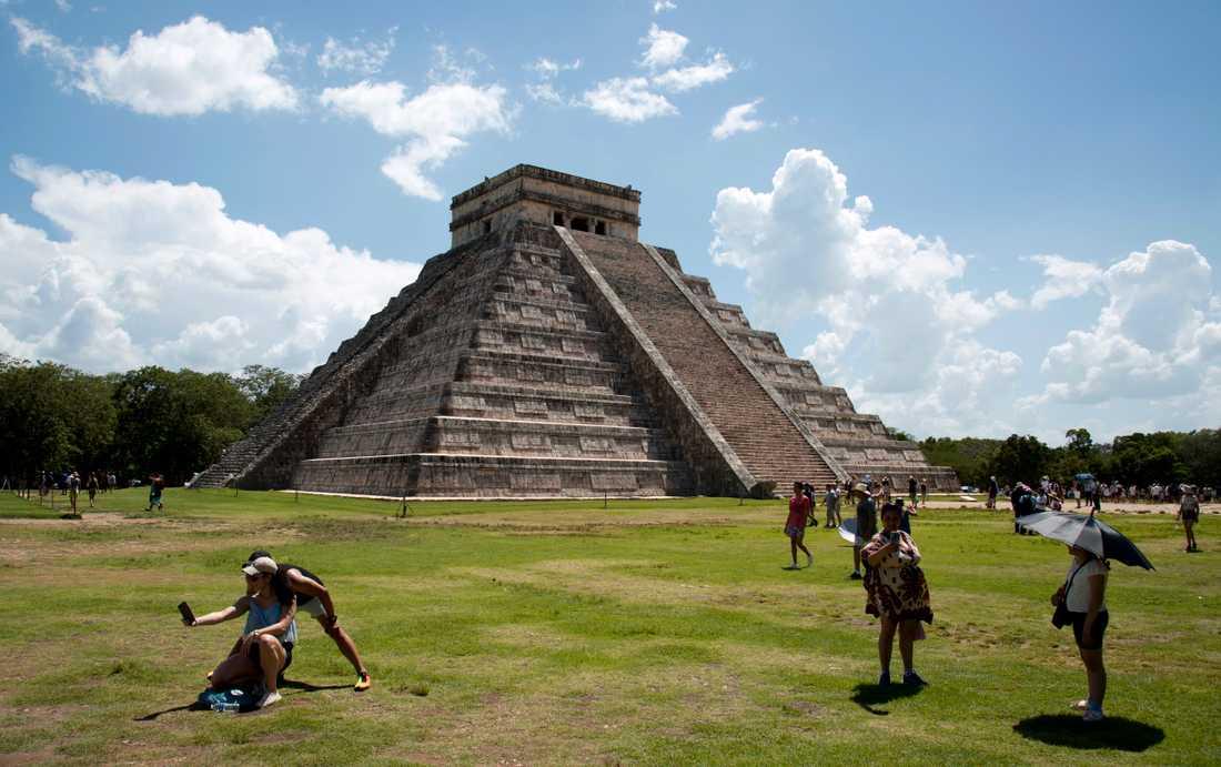 Chichén Itzá på den mexikanska Yucatánhalvön besöks av miljoner turister varje år. Arkivbild.