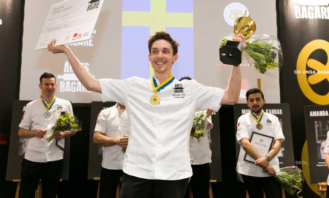 Alexander Pelli vann titeln Årets bagare 2019
