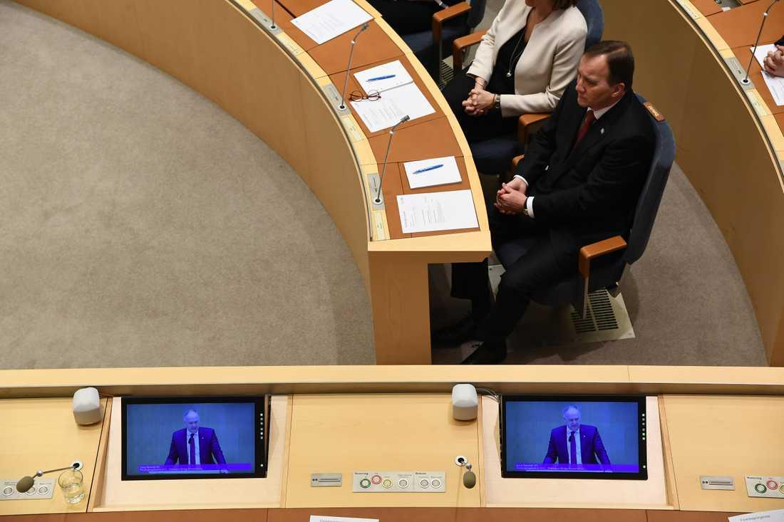 Riksdagen röstar om Stefan Löfven som statsminister.