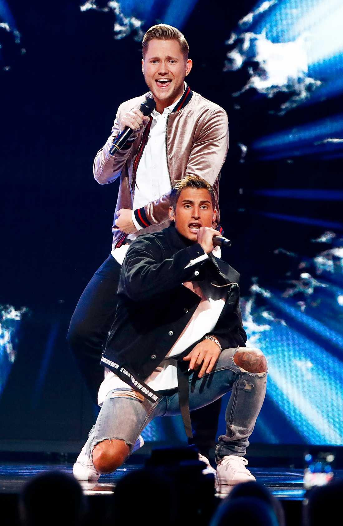 Viktor Frisk och Samir Badran ska delta i finalen av Melodifestivalen på lördag.