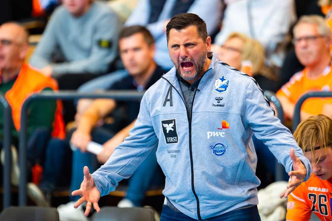 Ljubomir Vranjes med Kristianstad under slutspelet 2019