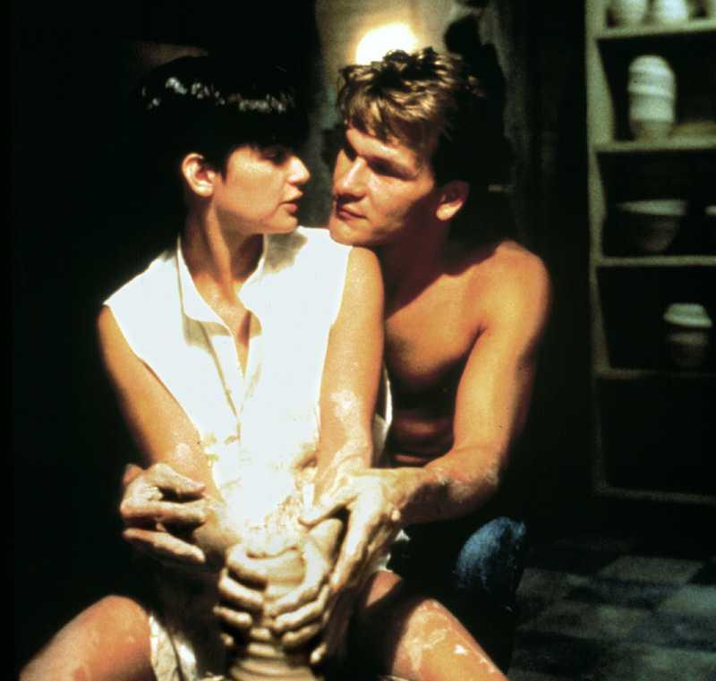"5. Patrick Swayze och Demi Moore i ""Ghost"""