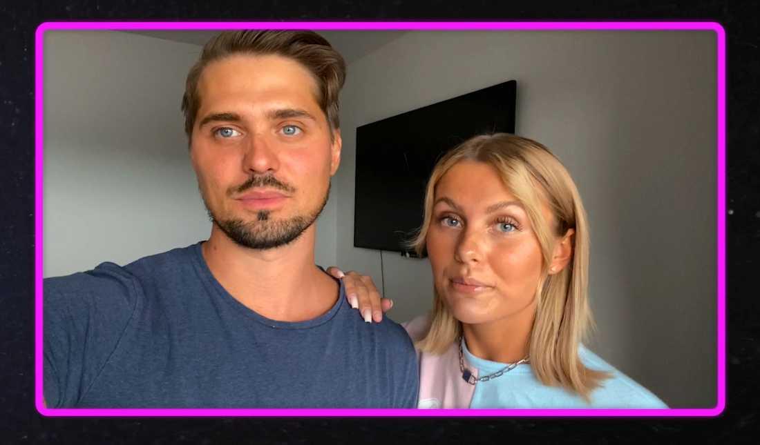"""Patrik Ekblom och Erica Lindberg berättar om sin kärlek i """"Studio paradise"""" på Viafree och Viaplay."""
