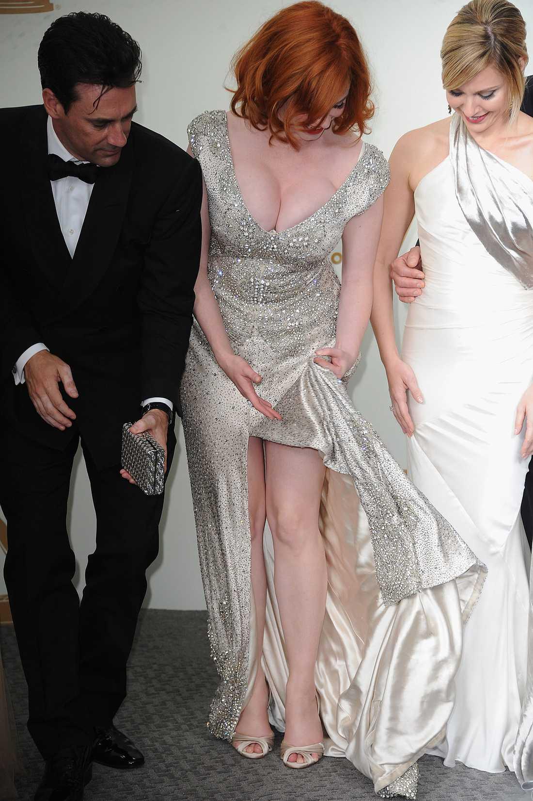 Det pratades inte bara tv, utan jämfördes även klänningar på galan.