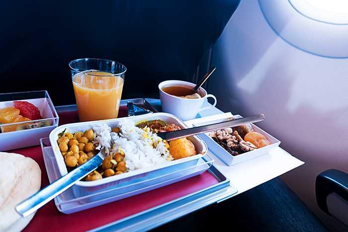 mat på flygplan
