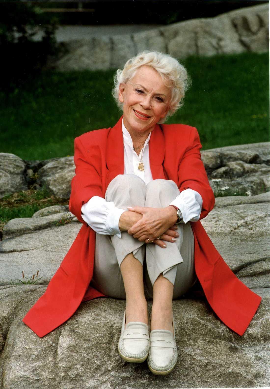 Annalisa Eriksson såg alltid mycket yngre ut än hon var. Här en bild då hon närmade sig 80.