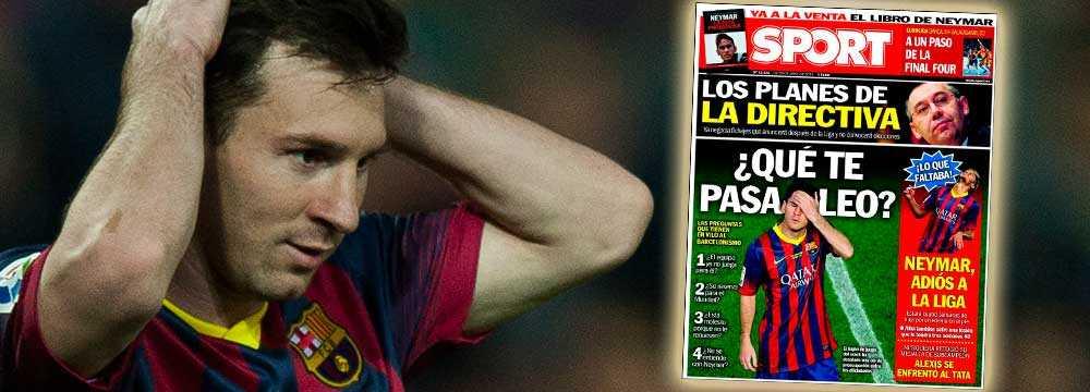 På dagens förstasida av spanska Sport frågar man sig vad som är fel med Leo.