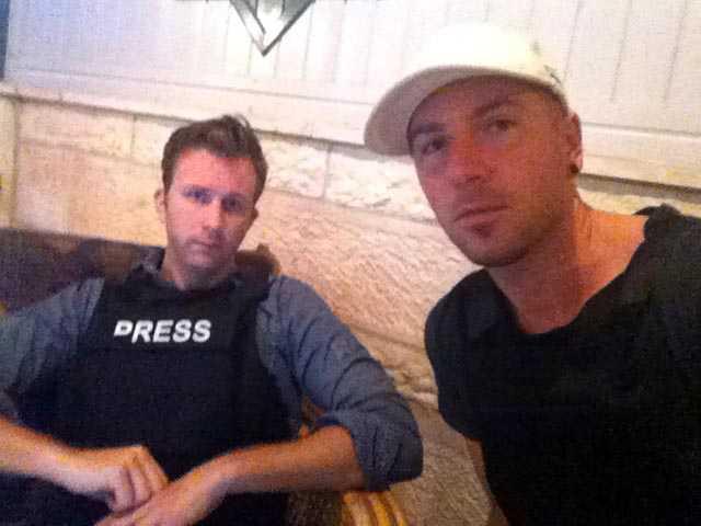 Aftonbladets utsända i Gaza, Erik Wiman och Magnus Wennman