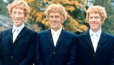 """Tre bröder i filmen """"Äppelkriget""""."""