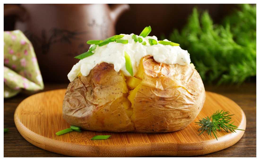 baka potatis i mikron