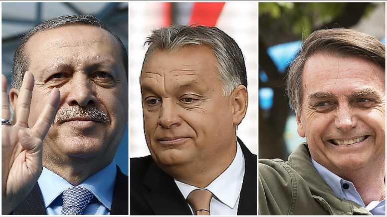 Erdogan, Orbán och Bolsonaro – demokratins dödgrävare långt ut på högerkanten.
