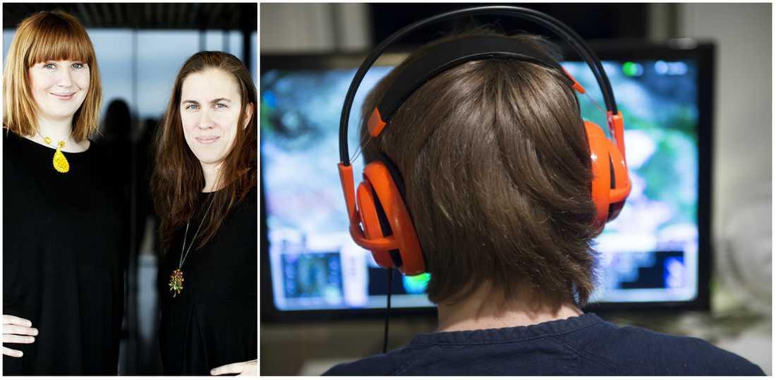 Petra Jankov och Johanna Stenius är journalister, föräldrar och författare till boken På skärmen, en handbok för barn om att vara online.