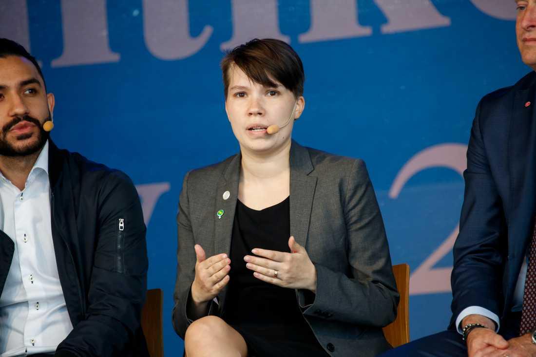 Miljöpartiets migrationspolitiska talesperson Annika Hirvonen Falk.