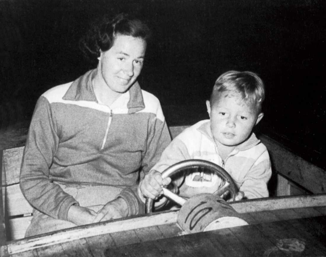 Jerry Williams med sin mamma Edit Fernström.