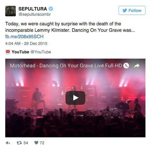 Från bandet Sepultura.
