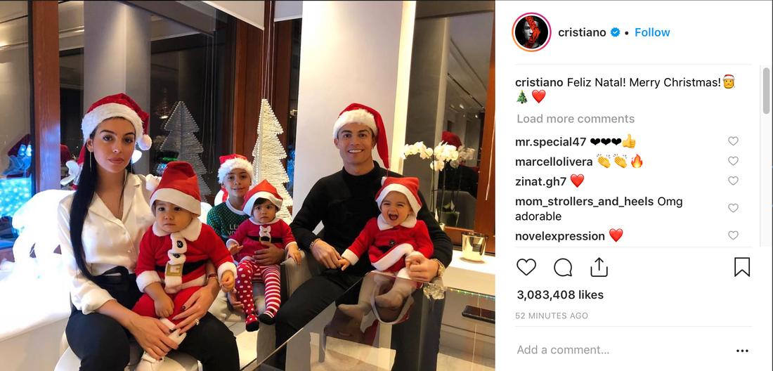 Familjen Ronaldo börjar bli rejält stor.