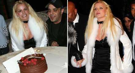 HÄR ÄR skinnJACKAN Britney Spears gillade den här vita skinnjackan som kostar 45 000 kronor. Hon tog fyra stycken utan att betala när hon var på skandinaviskt pr-party. Sen firade hon sin 26-årsdag med chokladtårta.