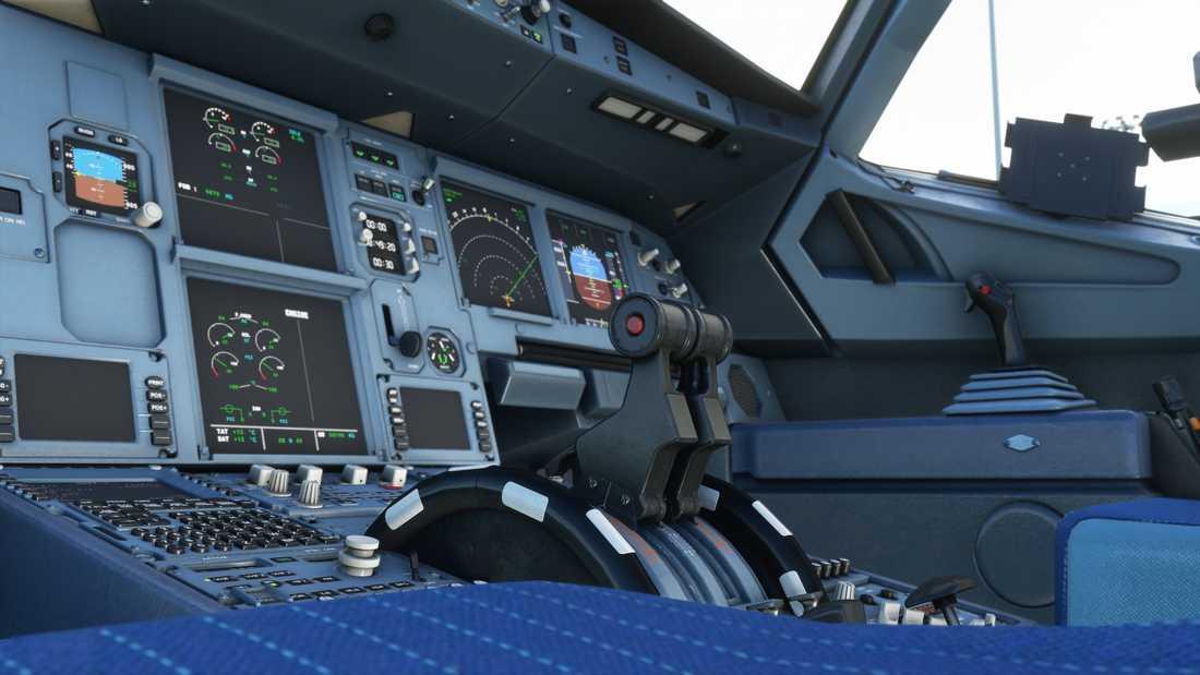 Utvecklarna har samarbetat med flygplansutvecklare för att återskapa cockpit som den ser ut i verkligheten. Pressbild.