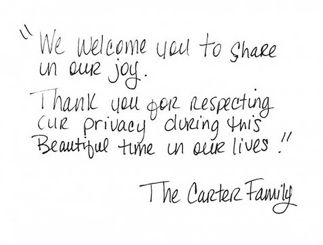 Brevet från Beyoncé och Jay-Z.