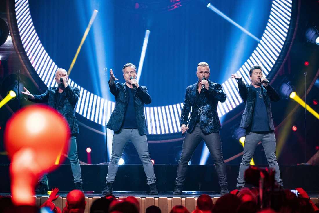 Arvingarna uppträder i Melodifestivalen 2019.