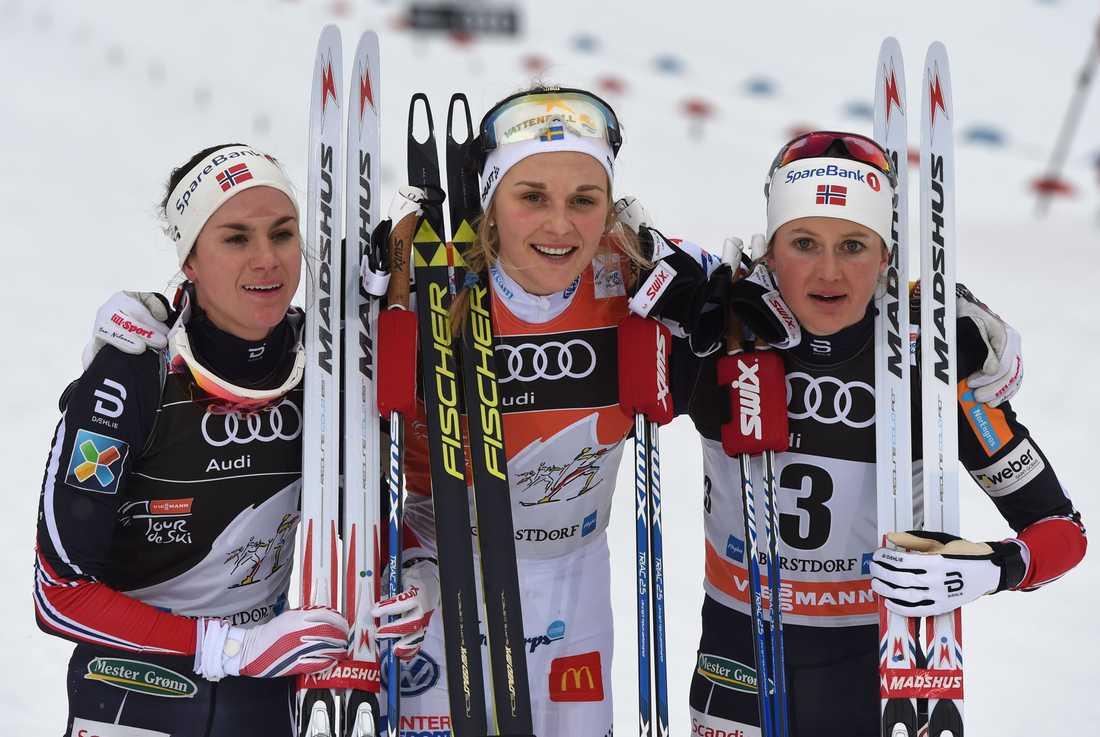Det har tidigare skrivits om att norskorna Ingvild Flugstad Östberg och Heidi Weng har kunnat tänkas använda nebulisator under touren – medan Stina Nilsson inte skulle göra det.