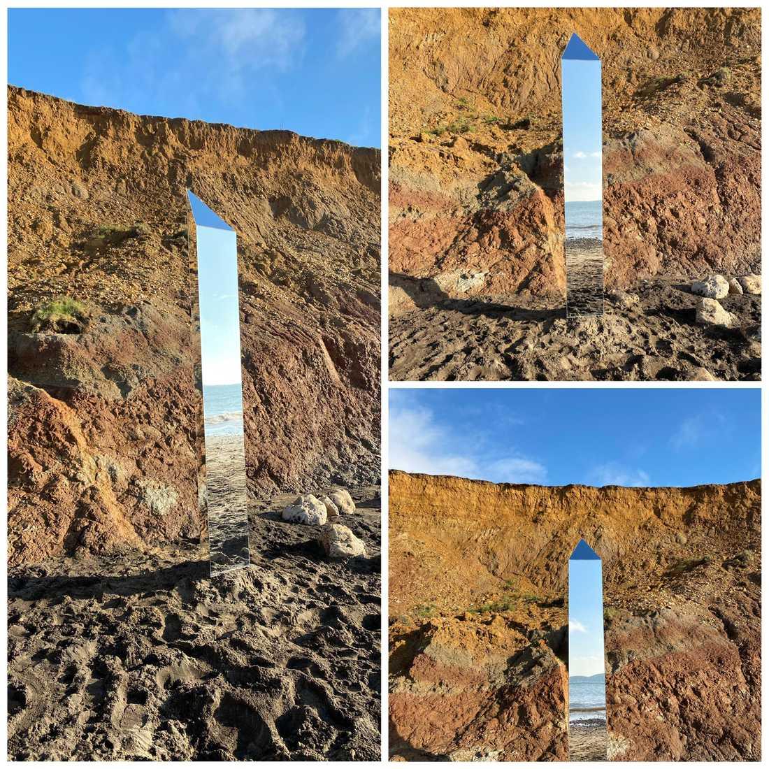 Monolit hittad på Isle of White.