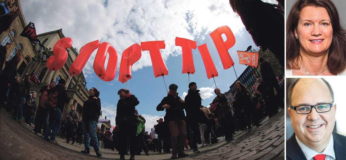 Runt om i Europa har människor protesterat mot TTIP, men att rikta ilskan mot handelsavtalet är inte rätt väg att gå, skriver dagens debattörer.