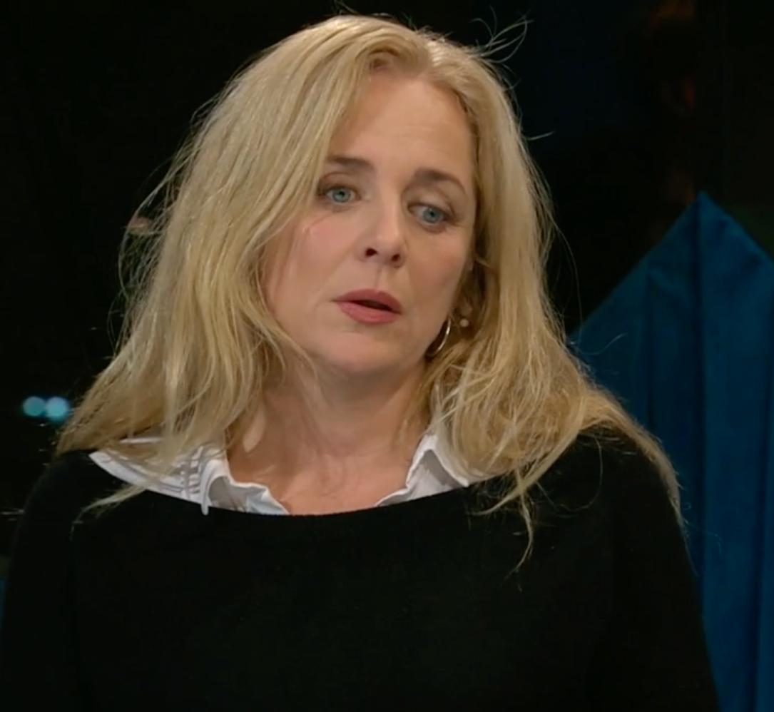 Lia Boysen. Skärmdump från SVT.