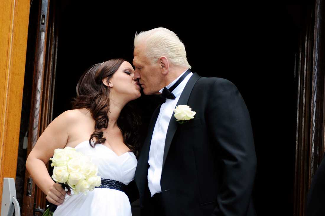 Frank Andersson, gifte sig med Jeanette Bouvin i Engelska kyrkan i Stockholm, sommaren 2012.