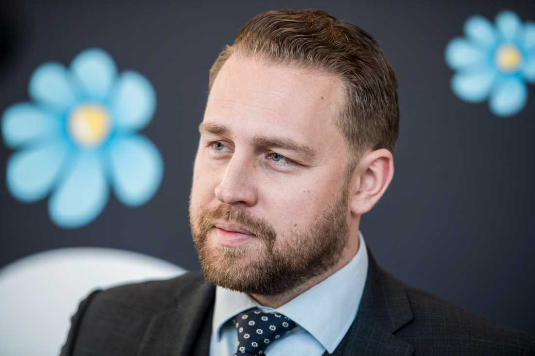 Sverigedemokraterna chefsideolog Mattias Karlsson.