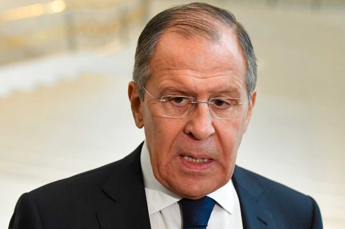 Rysslands utrikesminister Sergej Lavrov. Arkivbild.