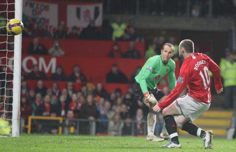 DRÖMCOMEBACKEN Wayne Rooney gör 3–0 för Man United mot Fulham.