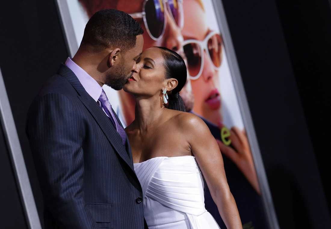 "Will Smith och Jada Pinkett Smith vid premiären av ""Focus"" i februari i år."