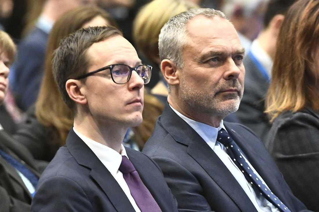 Mats Persson och avgående L-ledaren Jan Björklund.