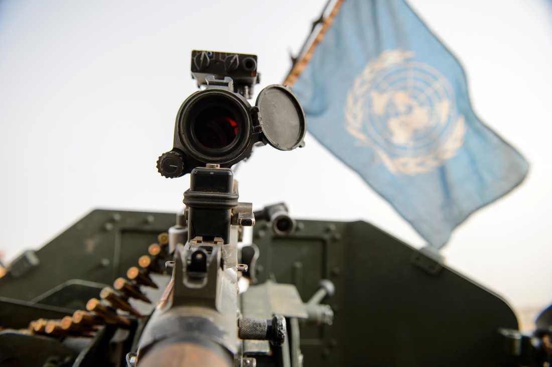 Två FN-soldater har dödats i en attack mot deras konvoj i Mali. Arkivbild.