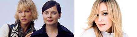 Emma Wiklund, 37 och Isabella Rossellini, 54 är modeller för Lindex. Madonna, 47 modellar för H&M.