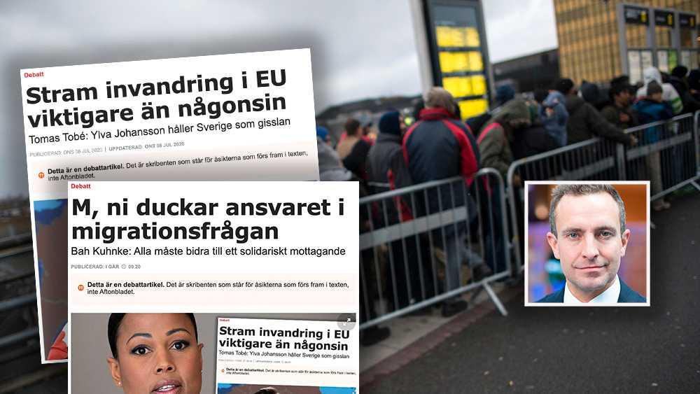 En ny, stram europeisk migrationspolitik är avgörande. Det är en förutsättning för ett lägre mottagande i Sverige, vilket ger oss andrum för att lösa våra djupa segregationsproblem, skriver Tomas Tobé (M).