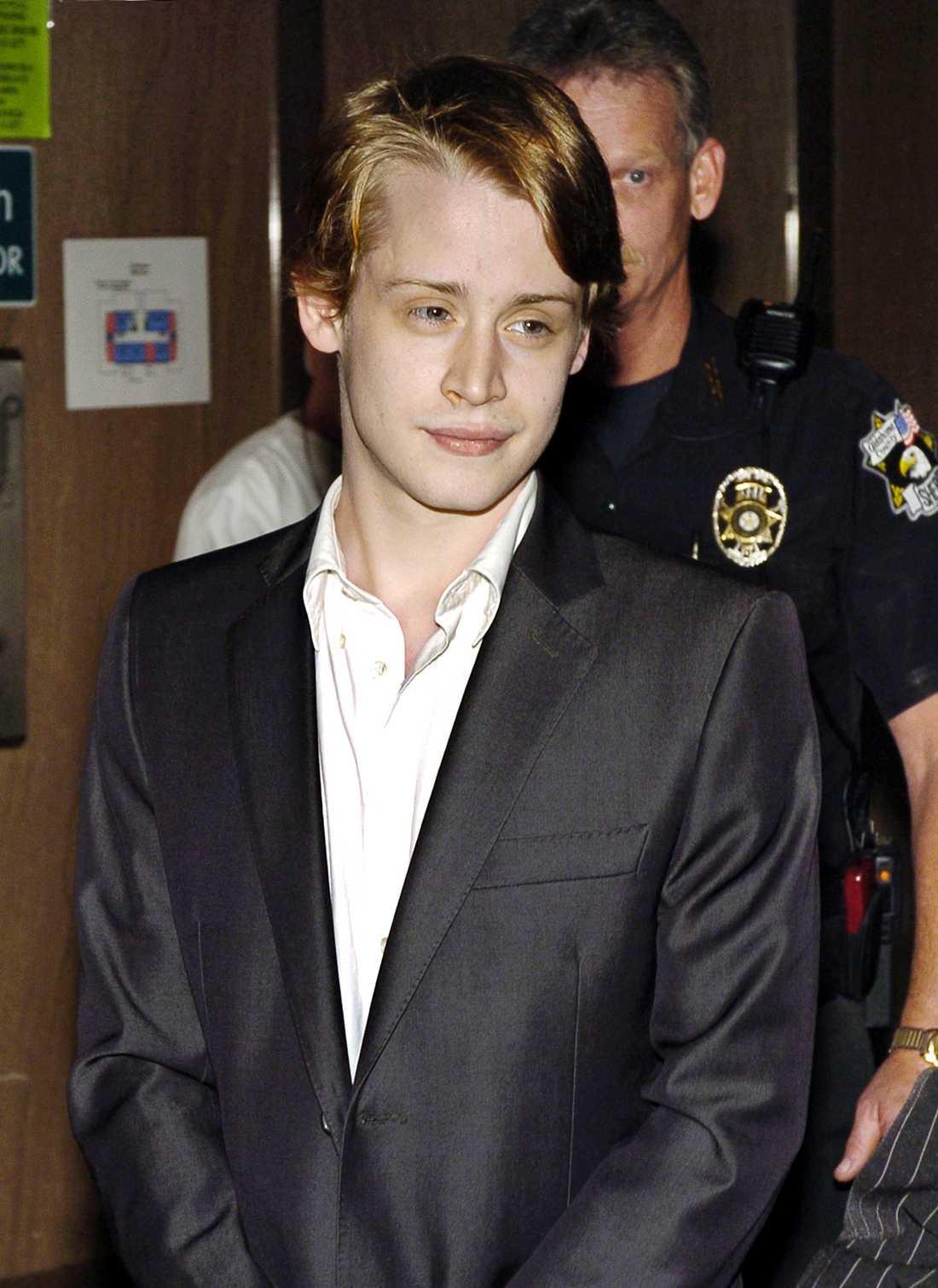 Culkin i rättsalen 2005.