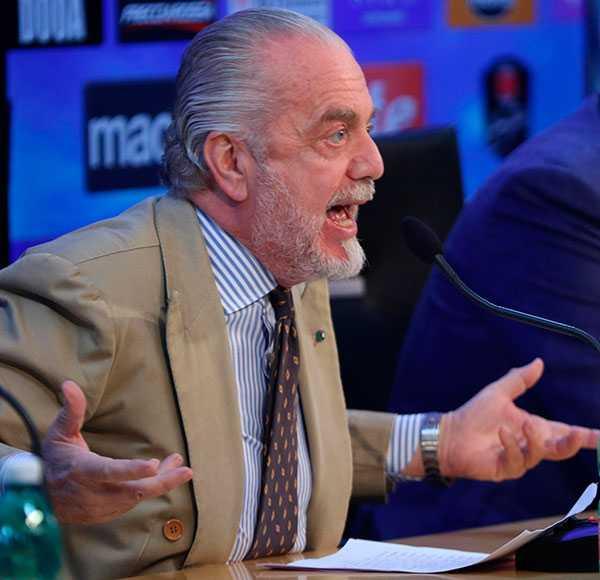 Napolis president Aurelio De Laurentiis.