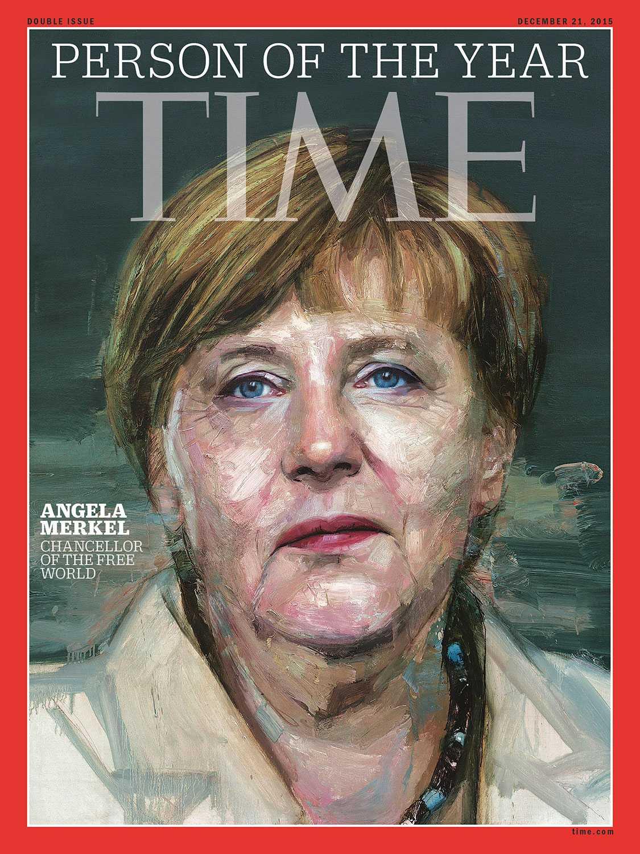 """Angela Merkel utsågs till """"årets person"""" av tidskriften Time."""
