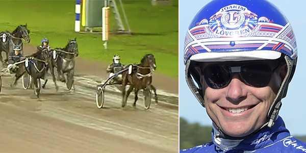 Joakim Lövgren och Speed Vici spikas på V64.
