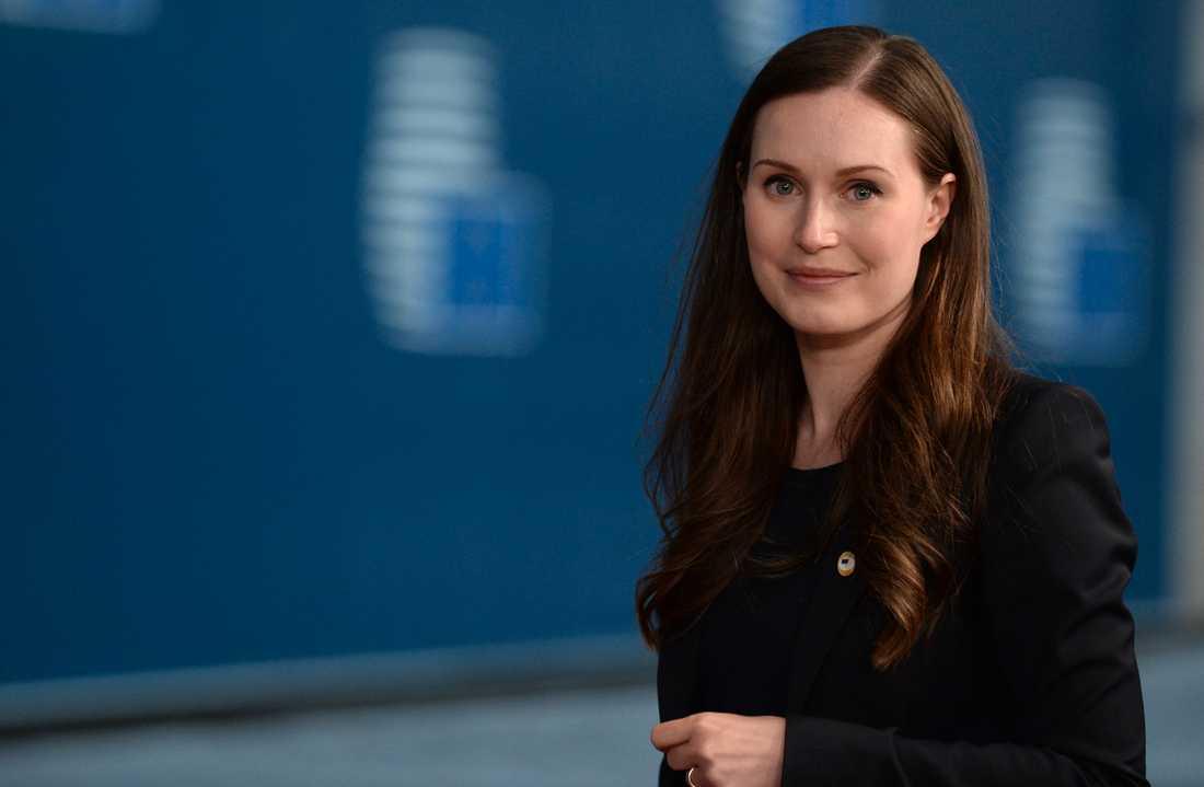 Sanna Marin. Bild från EU-toppmötet i juli.