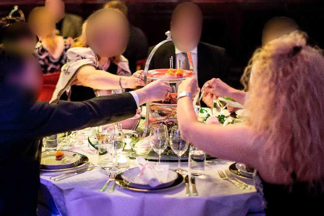 Bild från Tillväxtverkets kritiserade fest på Grand Hôtel i Stockholm.