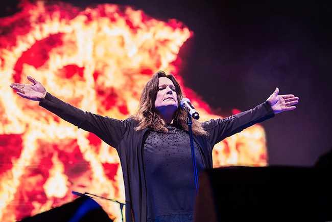 Ozzy Osbourne under Black Sabbaths sista Sverigekonsert någonsin på Friends Arena i Stockholm i somras.