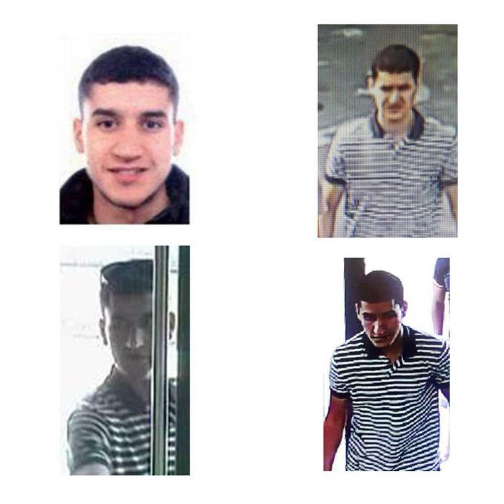 Younes Abouyaaqoub. Han körde enligt polisen skåpbilen och sköts ihjäl av spansk polis strax utanför Barcelona.